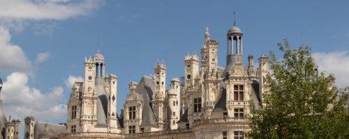 A imponência do Castelo de Chambord