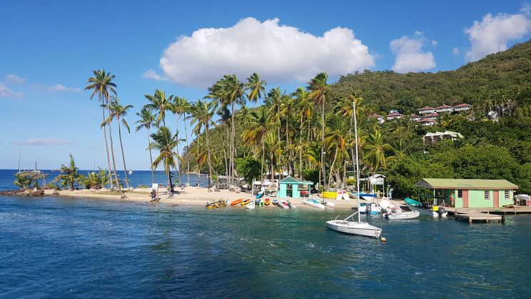 Marigot Bay in Sta Lúcia