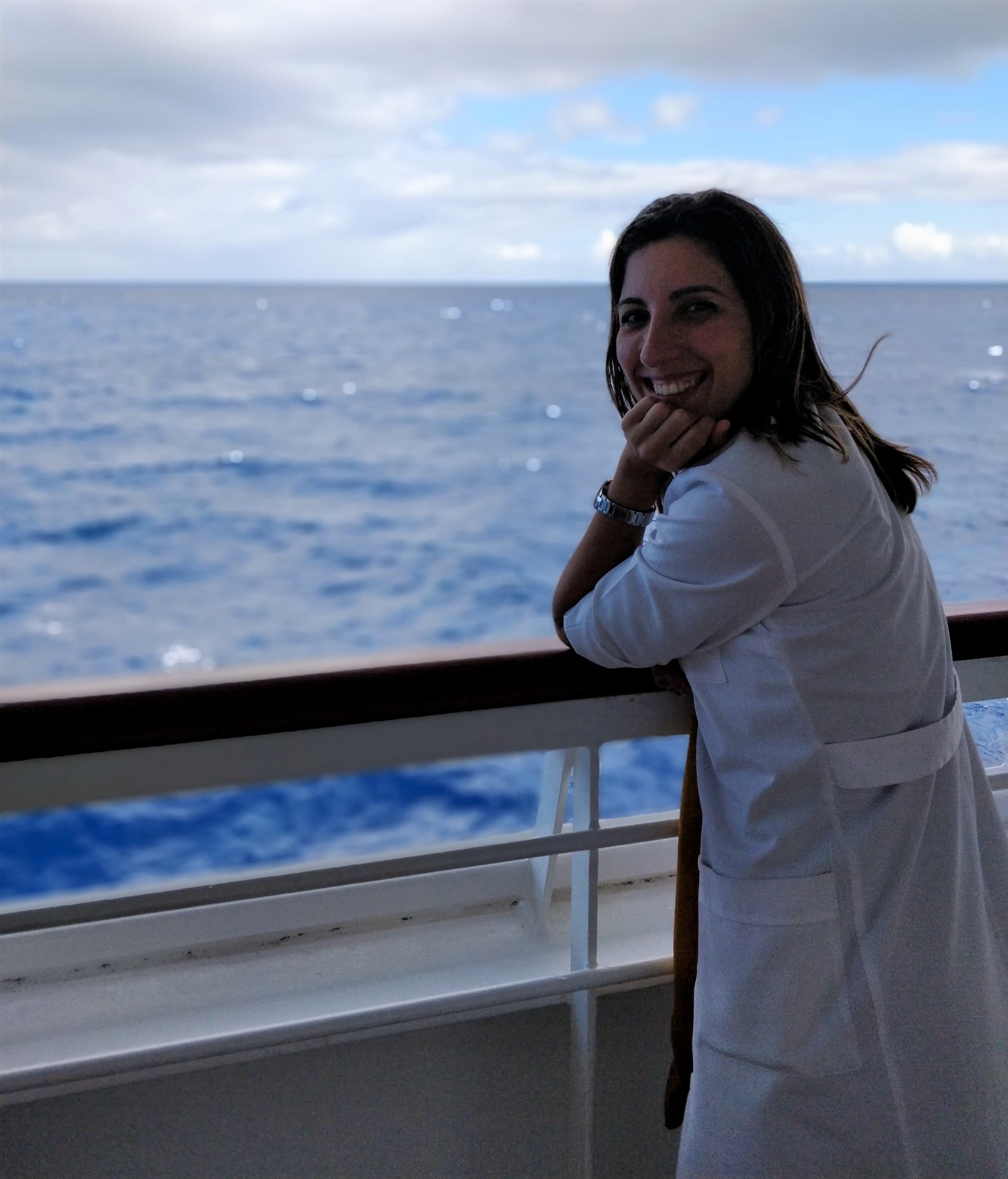 a bordo do PO Azura