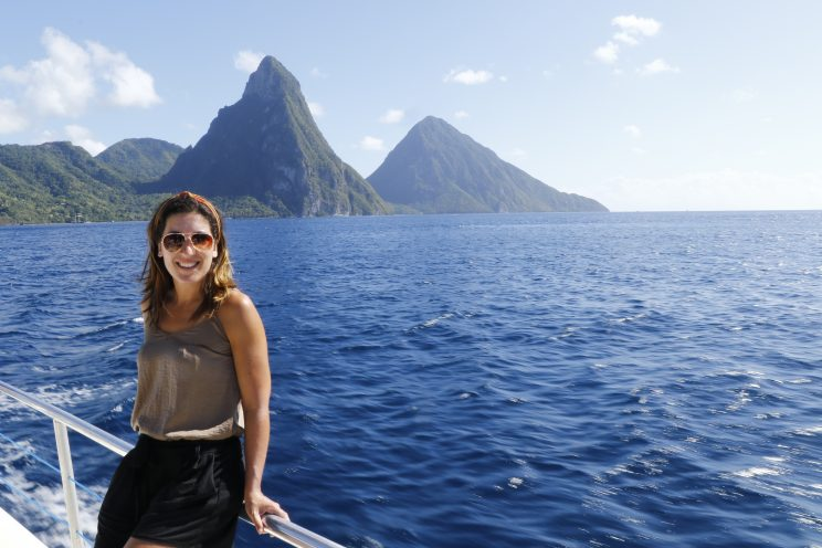 travelling The Pitons in Sta Lúcia
