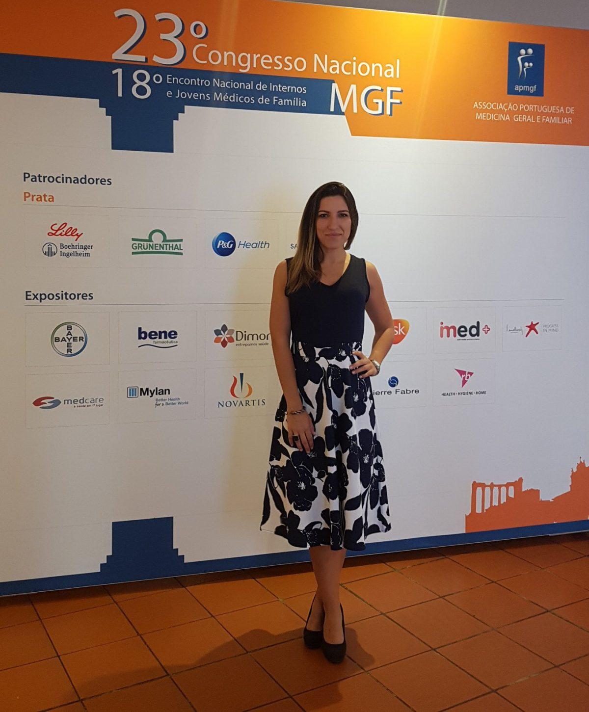 como médica, palestrante da Mesa sobre Empreendedorismo em Saúde, no Congresso Nacional de MGF 2019
