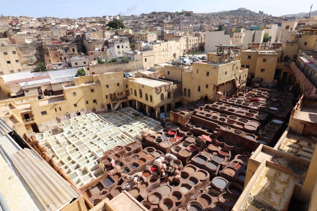 Chouara é a maior das quatro tinturarias de Fez
