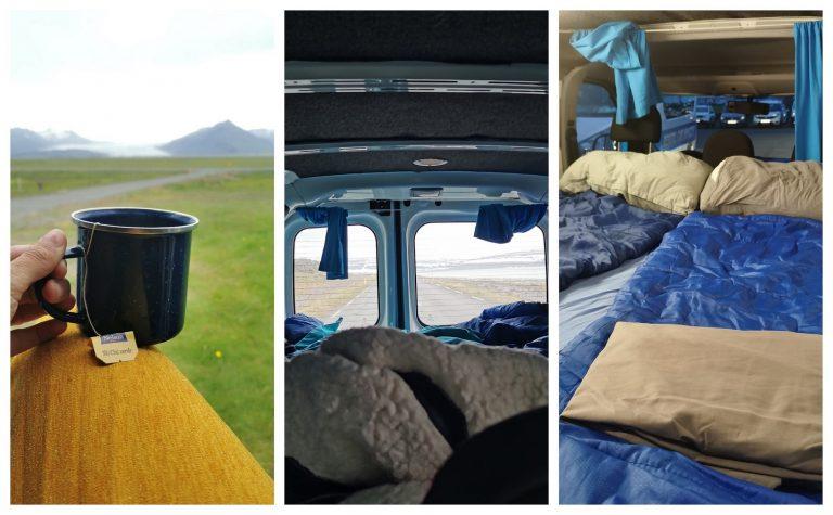 caravana interiores - custo viagem Islândia