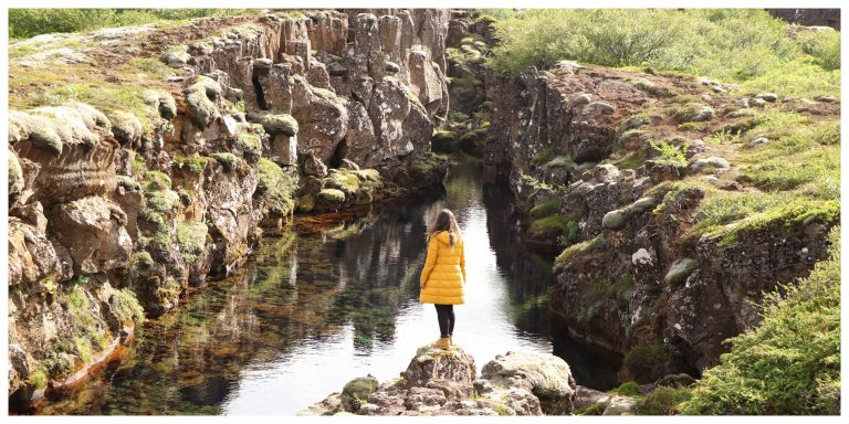 casaco impereável - mochila Islândia