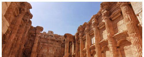 As ruínas greco-romanas de Baalbek